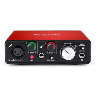 Focusrite Scarlett Solo MKII - Front Elevated
