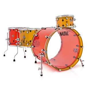 Natal Arcadia 4 Piece Acrylic Shell Pack, Jelly Bean 2