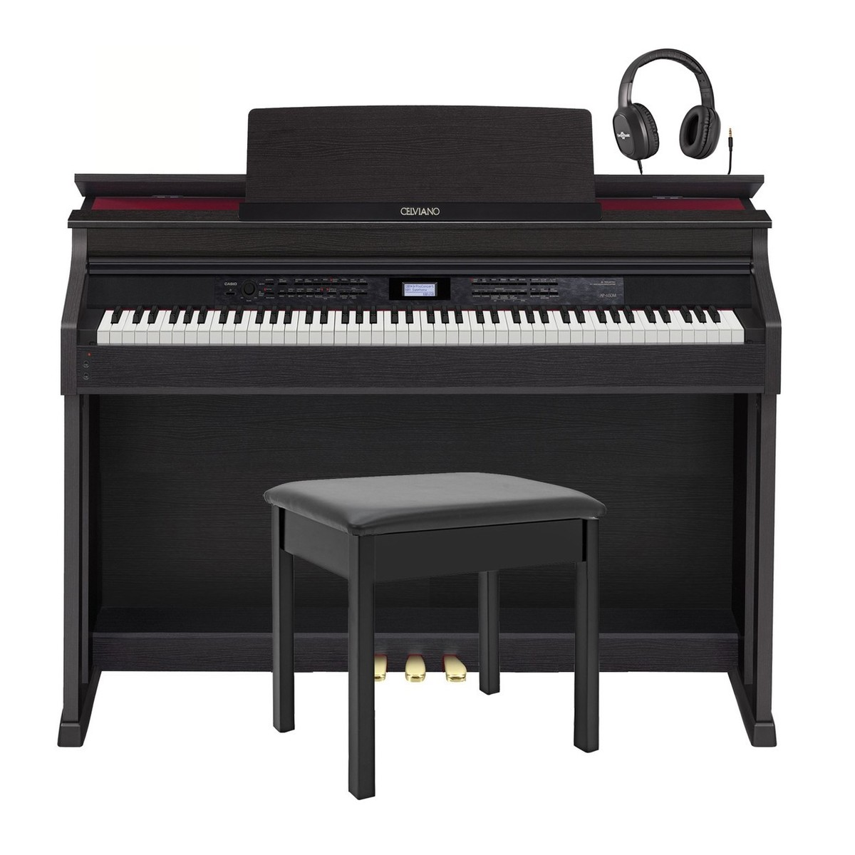 casio celviano ap 650 digital piano with stool and headphones at gear4music. Black Bedroom Furniture Sets. Home Design Ideas