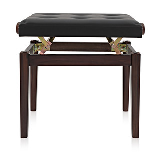 Deluxe Piano Stool by Gear4music, Rosewood
