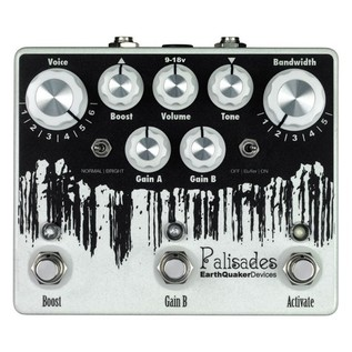 EarthQuaker Devices Palisades Dual Overdrive and Boost Top Panel