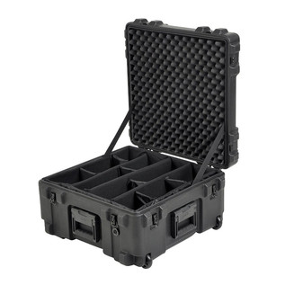SKB R Series 2222-12 Waterproof Case (With Dividers) - Angled Open 2