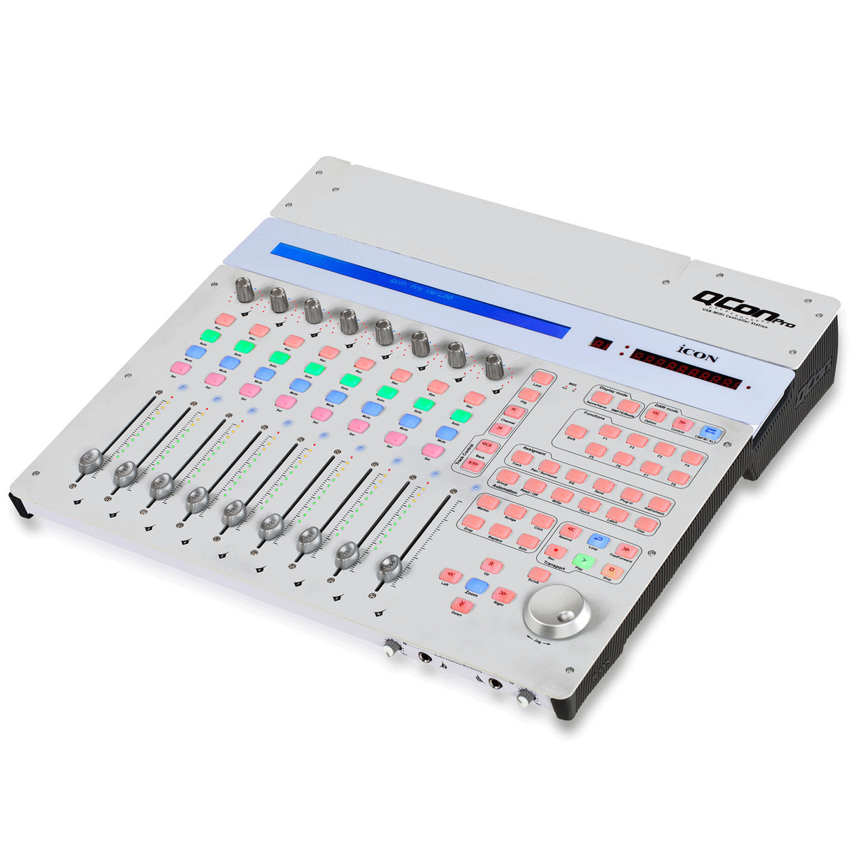 Icon Qcon Pro Usb Control Surface With Motorised Faders B Stock At Led Fader Controller Loading Zoom