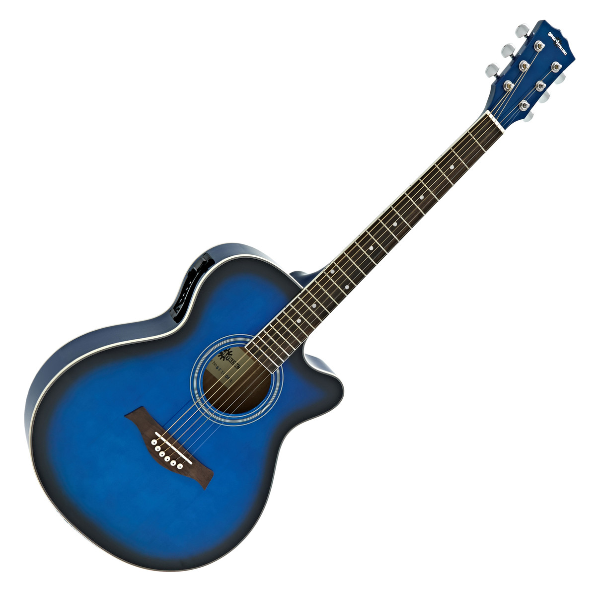 Verbazingwekkend Single Cutaway Elektro-Akoestische Gitaar van Gear4music, Blauw NN-43