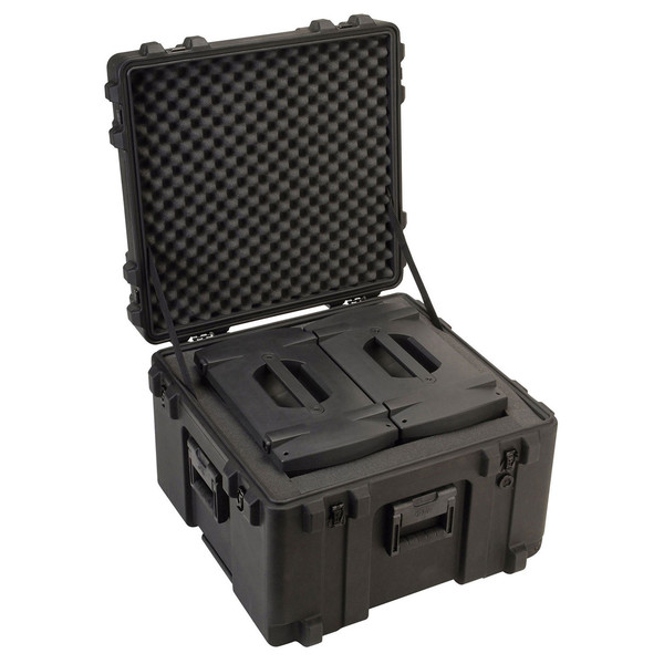 SKB R Series 2423-17 Waterproof Case (With Cubed Foam) - Angled Open 2