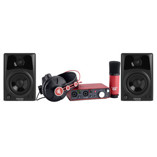 Focusrite Scarlett Studio with Denon DN-304SAM Active Monitors - Bundle Image