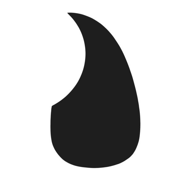 Guitarworks Acoustic Guitar Scratch Plate, Black, Tear Drop