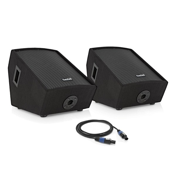 "Subzero 700W 12"" Floor Monitor Twin Pack by Gear4music"