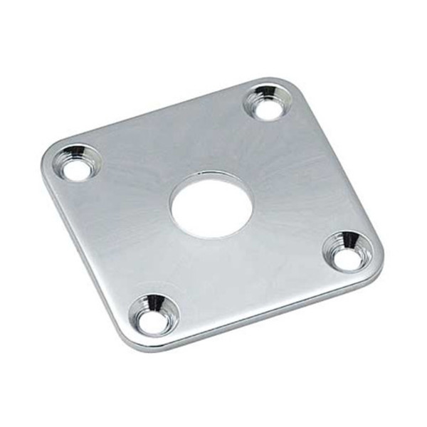 Allparts Jackplate for Singlecut Guitars, Chrome