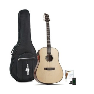 Ozark D Model Folk Electro Acoustic, Natural and Free Accessories