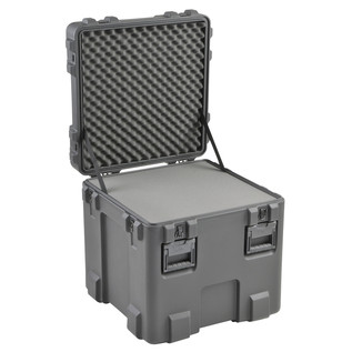 SKB R Series 2727-27 Waterproof Case (With Layered Foam) - Angled Open