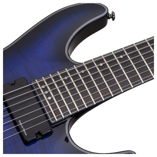 Schecter Blackjack SLS C-7 A Electric Guitar, Blue