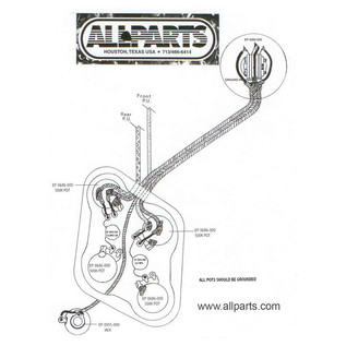 Allparts Toggle Switch, Short Straight