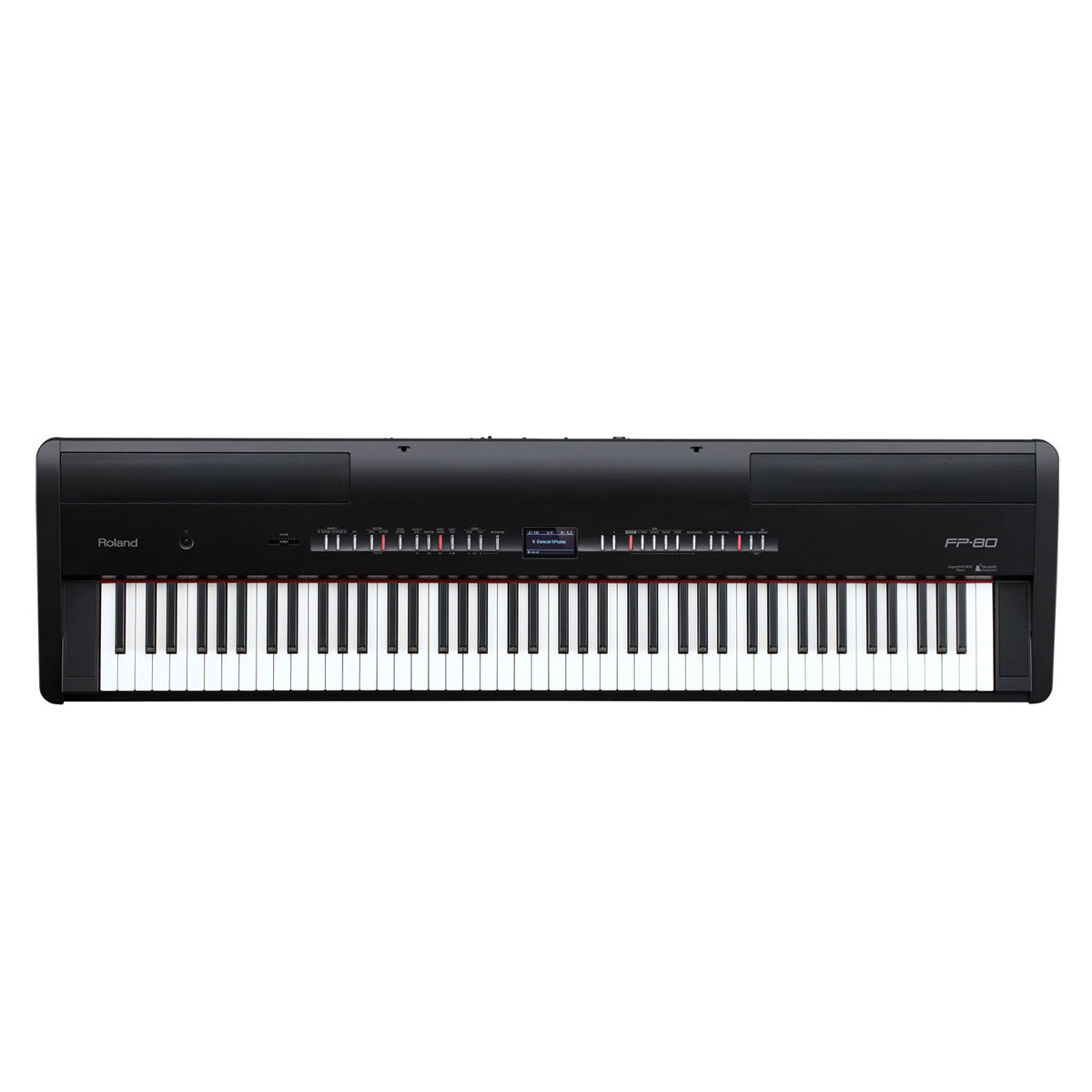 Roland fp 80 pianoforte digitale supernatural nero for Generatore di piano