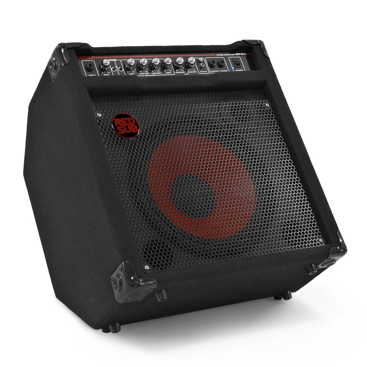 redsub bp80 80w bass guitar amplifier box opened at gear4music. Black Bedroom Furniture Sets. Home Design Ideas