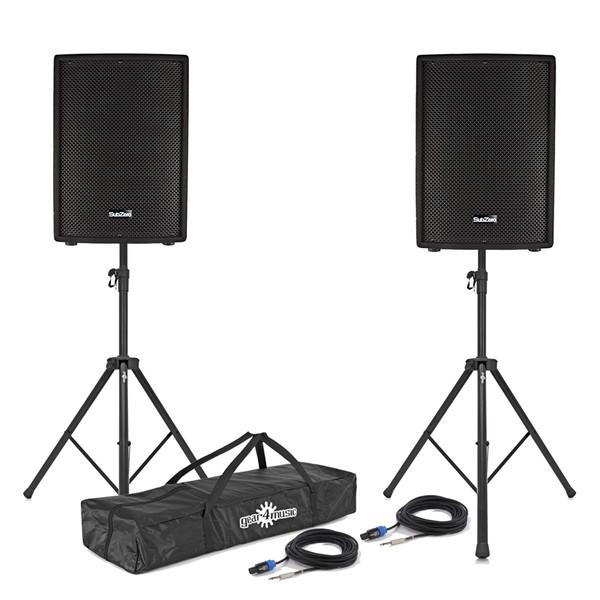 """SubZero 800W 10"""" PA Passive Speaker Bundle"""