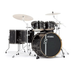 Tama Superstar Hyperdrive Maple 6 Pc Drum Kit, Brushed Charcoal Black