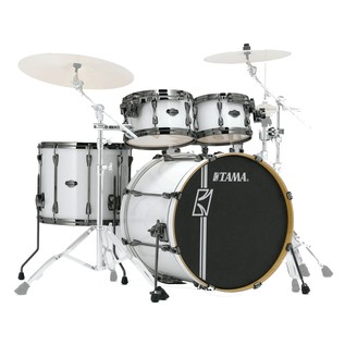 Tama Superstar HyperDrive Maple 5 Pc Shell Pack, Sugar White