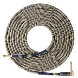 Lava Cable ELC Tweed Angled Instrument Cable 10ft, Tweed Image