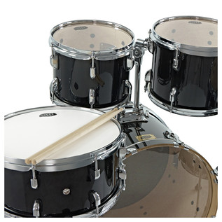 WHD Birch 5-Piece Swing Drum Kit + WHD Cymbal Pack, Black