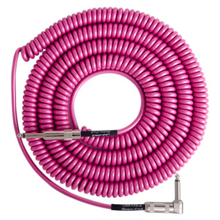 Lava Cable Retro Coil Angled Instrument Cable 20ft, Hot Pink Image