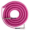Lava Cable Retro Coil Angled Instrument Cable 20ft, Hot Pink