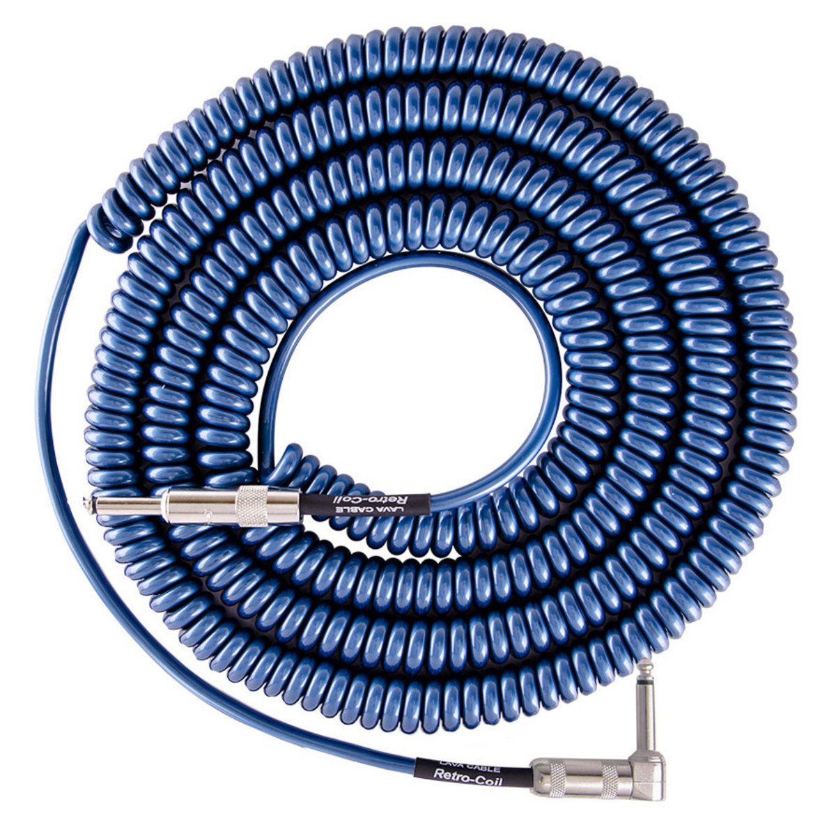 lava cable retro coil angled instrument cable 20ft metallic blue at gear4music. Black Bedroom Furniture Sets. Home Design Ideas