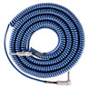 Lava Cable Retro Coil Angled Instrument Cable 20ft, Metallic Blue