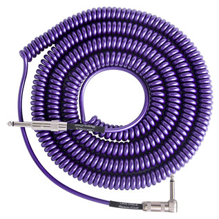 Lava Cable Retro Coil Angled Instrument Cable 20ft, Metallic Purple Image