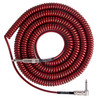 Lava Cable Retro Coil Angled Instrument Cable 20ft, Metallic Red