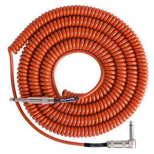 Lava Cable Retro Coil Angled Instrument Cable 20ft, Orange Image