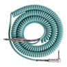 Lava Cable Retro Coil Angled Instrument Cable 20ft, Sea Foam Green