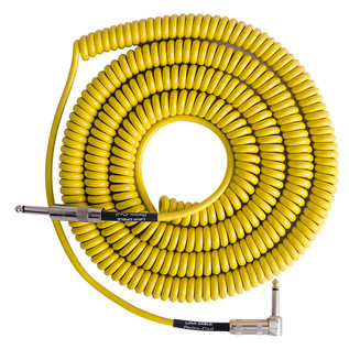 Lava Cable Retro Coil Angled Instrument Cable 20ft, Yellow Image