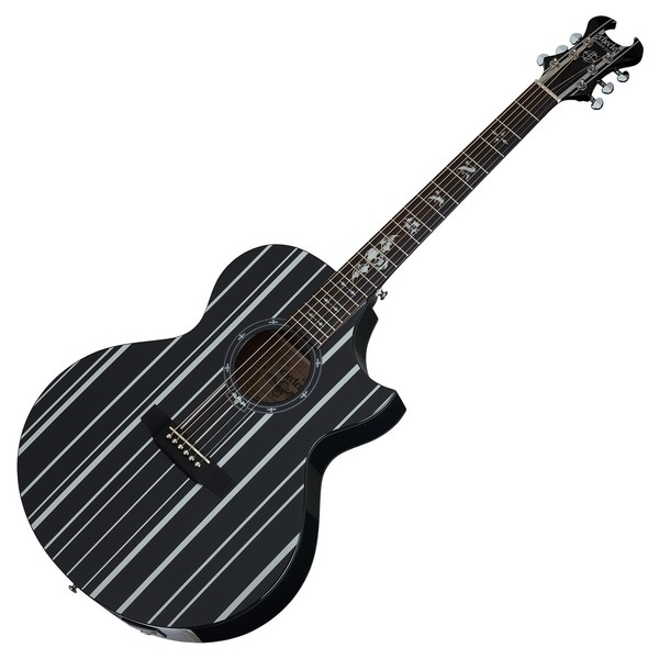 schecter synyster ac ga sc electro acoustic guitar black and silver at gear4music. Black Bedroom Furniture Sets. Home Design Ideas
