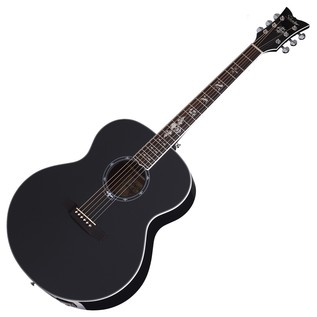 Schecter Synyster SYN J Electro Acoustic Guitar, Gloss Black