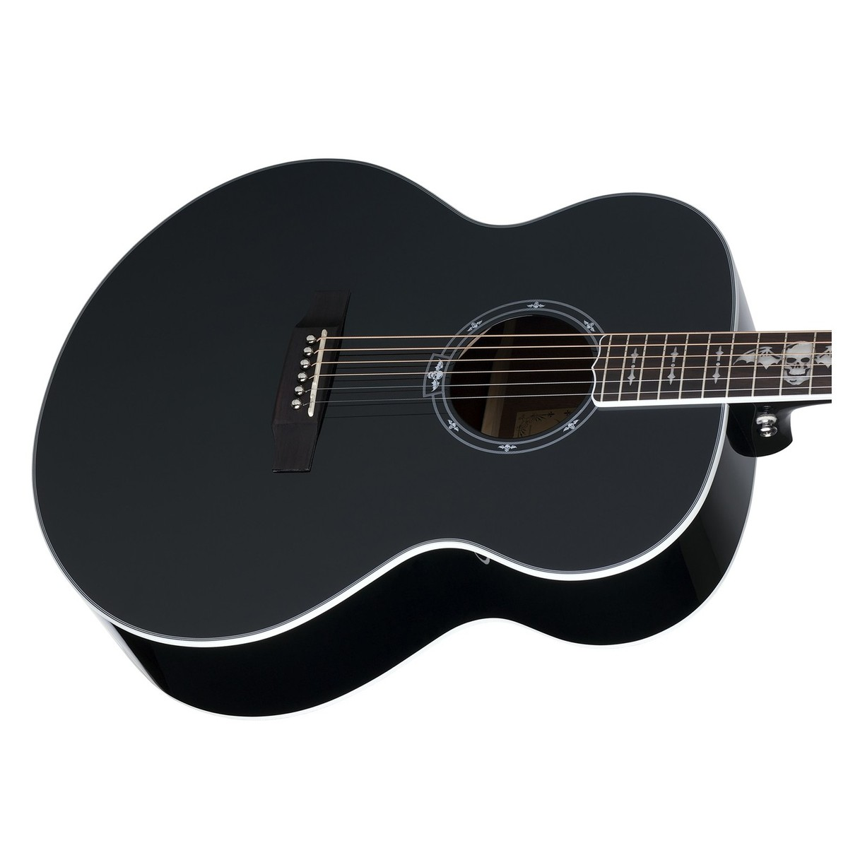 schecter synyster syn j electro acoustic guitar gloss black at gear4music. Black Bedroom Furniture Sets. Home Design Ideas