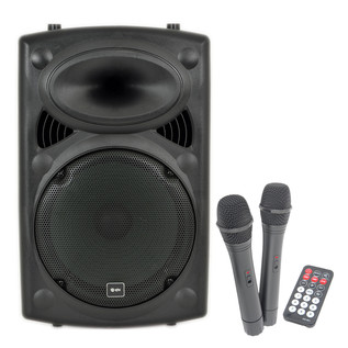 QTX Sound QR12PA Portable PA System with Wireless Mics