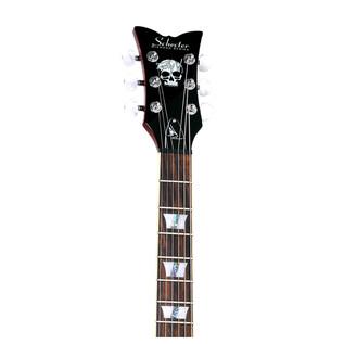 Schecter Zack Vengeance Custom Reissue Left Handed Guitar, See-Thru Cherry