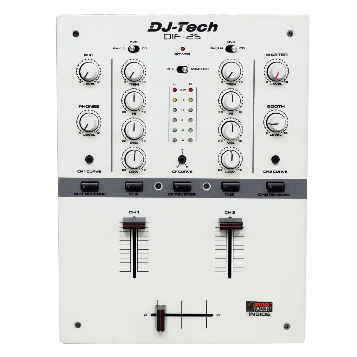 Disc Dj Tech Dif 2s 2 Channel Dj Scratch Mixer White At