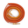 Lava kabel Morph Coil vinklet Instrument kabel 25ft,    Orange gult