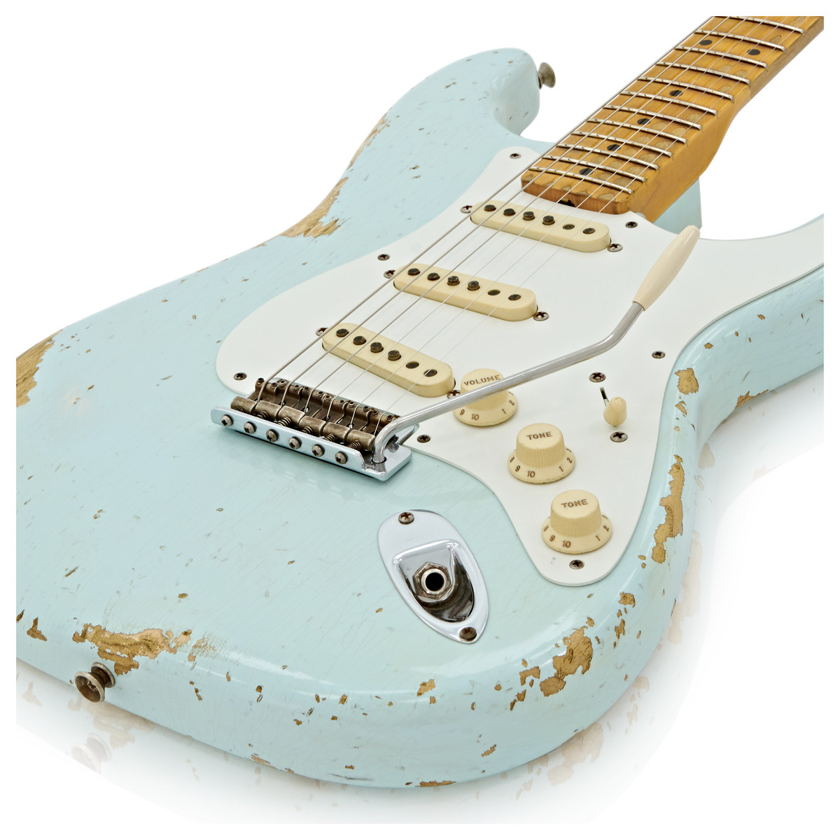 DISC Fender Custom Shop Limited 1956 Relic Strat, Faded Sonic Blue ...
