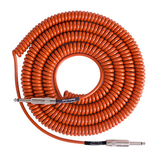 Lava Cable Retro Coil Instrument Cable 20ft, Orange Image