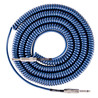 Lava kabel Retro Coil Instrument Cable 20ft, blå Metallic