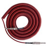 Lava kabel Retro Coil Instrument Cable 20ft, metallisk rød