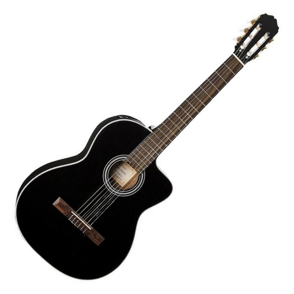 disc takamine gc3ce blk electro guitare classique noir. Black Bedroom Furniture Sets. Home Design Ideas