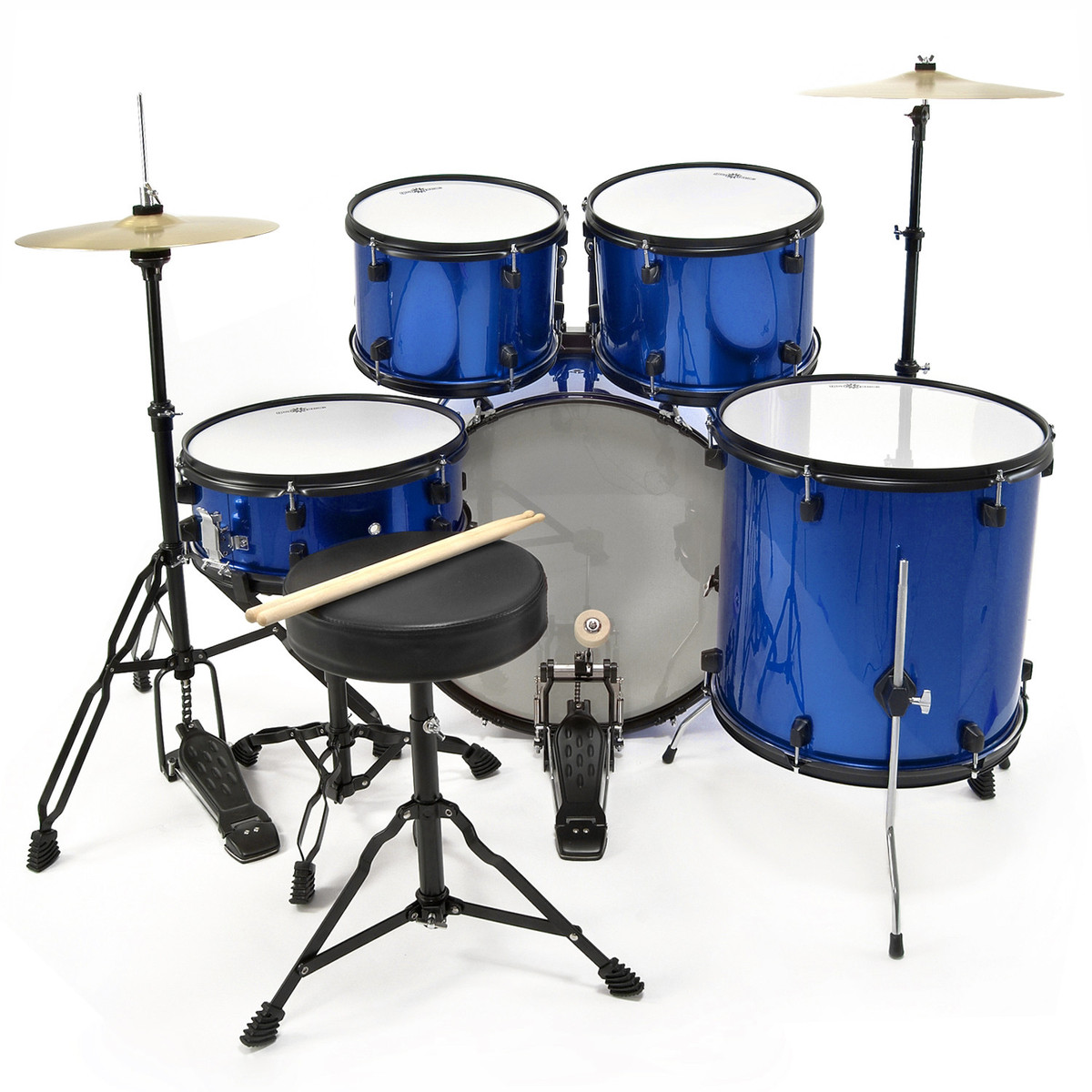 bdk 1 full size starter drum kit by gear4music blue b stock at gear4music. Black Bedroom Furniture Sets. Home Design Ideas