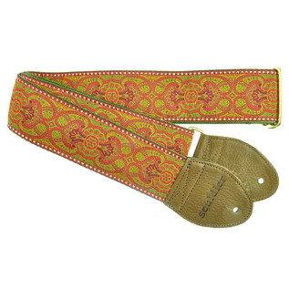 Souldier Guitar Strap Arabesque Metallic Stitching, Red