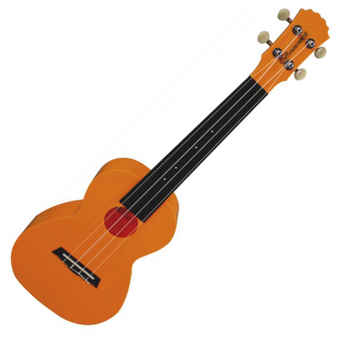 DISC Brunswick Ukulele Concert Orange At Gear4music