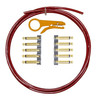 Lava Cable Original Solder Free Black/Gold Cable Kit, Red
