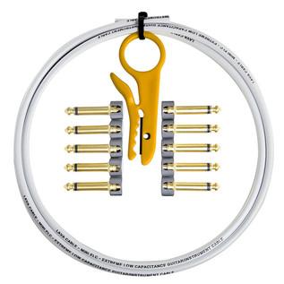 Lava Cable Original Solder Free Black/Gold Cable Kit, White Image